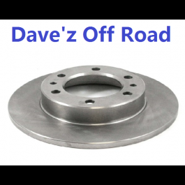 Solid axle brake rotor